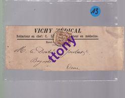 Un Timbre  2 C Sage   Sur  Bande De Journal   Vichy  Médical   Destination Bagnoles   Ornes  1881 - 1876-1898 Sage (Type II)