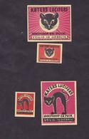 Anciennes étiquettes Allumettes Belgique Chat - Boites D'allumettes - Etiquettes