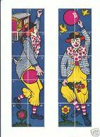 2 Série Anciennes étiquettes Allumettes Belgique Clown Cirque - Boites D'allumettes - Etiquettes