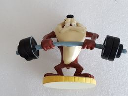 Taz Haltérophile - Figurine Looney Tunes - Weightlifter Taz - Musculation - Culturisme - Haltérophilie - Weightlifting - Figurillas