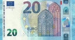 EURO BELGIUM 20 ZC Z002 UNC DRAGHI CH 62 65 72 77 78 82 - EURO