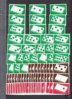 3 Série Anciennes étiquettes Allumettes Belgique Dés - Boites D'allumettes - Etiquettes