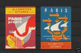 Anciennes étiquettes Allumettes France Propreté De Paris - Boites D'allumettes - Etiquettes