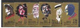 France,  Scott 2019 # B615-620,  Issued 1990,  Set Of 6,  MNH,  Cat $ 5.40, Movies - Ongebruikt