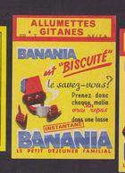 Ancienne étiquette Allumettes France Banania - Matchbox Labels