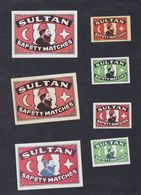 Ancienne étiquettes Allumettes Belgique Sultan Turquie - Boites D'allumettes - Etiquettes