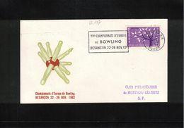 France / Frankreich 1963 Besancon European Bowling Championship Interesting Letter - Bowls