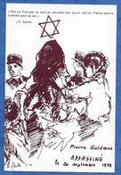CPM Pierre Goldman Assassiné Le 20/09/1979 Illustrateur A. SCHROTTER 1000 Exp Judaisme Ed Civry Avallon - Events