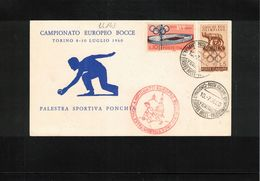 Italy / Italia 1960 European Bowling Championship Interesting Letter - Bowls