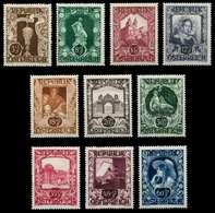 ÖSTERREICH 1947 Nr 812-821 Postfrisch X718C72 - 1945-.... 2. Republik
