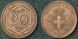 M_p> Regno Vitt Eman III° 20 Centesimi 1919 Esagono, ALTA Conservazione - 1861-1946 : Regno