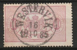 "Suede, Sweden""WESTERVIK 19-10-85"" On 10 Ct. Yvert Timbre De Service #5 - Service"