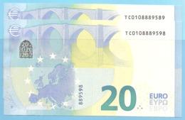 2X20 EURO EIRE PAIR T001H2 CHARGE 01 UNC NEUF - EURO