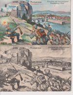 LOTE 2 POSTALES FELDSKIZZE . EINNAHME DER FRANZÖSISCHEN GRENZFESTUNG GIVET 1914/15 WWI WWICOLLECTION - Givet