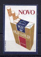 MATCHBOX LABEL,OLD GOLD,CIGARETTE ADVERT,SAFETY MATCH, DRAVA MANUFACTURER,CROATIA - Boites D'allumettes - Etiquettes