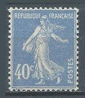 France YT N°237 Semeuse Fond Plein Neuf ** - 1906-38 Sower - Cameo