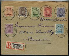 Doc. De LIGNEUVILLE - 03/08/1920 En Rec. Xhoffraix Avec  N° OC62 - 63 - 65/69 Surcharge Malmédy - [OC55/105] Eupen/Malmedy
