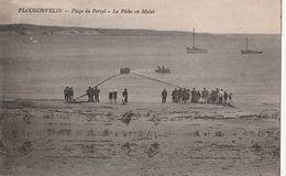 DPT  29 Finistère PLOUGONVELIN Plage De Perzel La Pêche Au Mulet  CPA  TTBE - Plougonvelin