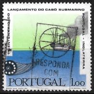 Portugal – 1970 Submarine Cable 1.00 Used Stamp - 1910-... République