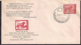 Argentina - FDC - 1959 - Série De Courrier Ordinaire - Caballito Criollo - Argentina