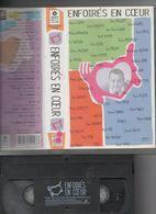VHS Les Enfoirés En Coeur 1998 Johnny Hallyday Mireille Mathieu Bruel Michel Sardou Julien Clerc Vanessa Paradis Cabrel - Concert & Music