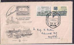 Argentina - Lettre - FDC - 1958 - Centenaire Du Timbre-poste De Buenos Aires - Argentine