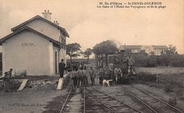 CPA Ile D' Oléron - St-DENIS-d'OLERON - La Gare Et L'Hotel Des Voyageurs Et De La Plage - Ile D'Oléron