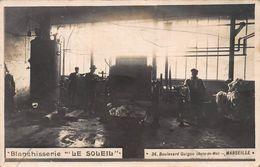 """CPA BLANCHISSERIE """"LE SOLEIL"""" - 36 Boulevard Guigou (Belle-de-Mai) MARSEILLE - Bahnhof, Belle De Mai, Plombières"""