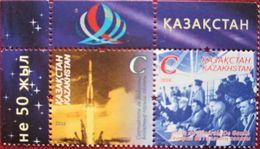 Kazakhstan  2016  Space  50e Anniversaire De La Visite Du General De Gaulle A Baikonour  2 V  MNH - Kasachstan