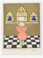 Communie Prentje Illustrator Jeanne Hebbelynck - Achterzijde Blanco - Kommunion Und Konfirmazion