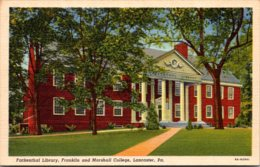 Pennsylvania Lancaster Fackenthal Library Franklin And Marshall College Curteich - Lancaster