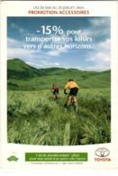61mst 1329 TOYOTA - PROMOTION ACCESSOIRES (DIMENSIONS 10 X 15 CM) - Publicité