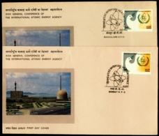ATOMIC ENERGY-ERROR-XXIII CONF OF THE INTERNATIONAL ATOMIC ENERGY AGENCY-2x FDCs-INDIA-1979-IC-279 - Atom