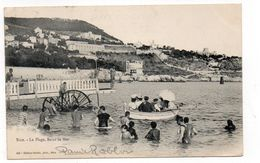 06 - NICE - La Plage, Bains De Mer - Animée, Roue à Eau - 1902 (J137) - Nizza