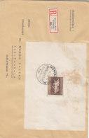 R-Brief Mit Block 4 Aus MÜNCHEN-RIEM 26.7.36 Nach Bad Nauheim - Briefe U. Dokumente