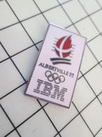 414b Pin's Pins / Rare Et De Belle Qualité !!! THEME JEUX OLYMPIQUES / IBM ALBERTVILLE 1992 - Olympic Games