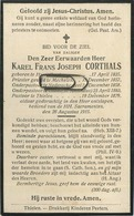 Karel Corthals: Herenthout 1835 - Pastoor Thielen 1879  (see Scans) Nederockerzeel - Geel - Mechelen - Images Religieuses