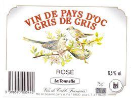 Etiket Etiquette - Vin - Wijn - Vin De Pays D'Oc - Gris De Gris - Rosé - Vin De Pays D'Oc