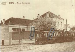 EVERE :  Ecole Communale  TRAM  (  Carte ADEPS  15 X 10.5 Cm ) - Evere