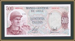 Chile 500 Escudo 1971 P-145 (145a.1) UNC - Chili