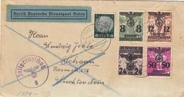 GG: Zollgrenzschutz Krakau Nach Schaan-Lichtenstein, Zensur - Besetzungen 1938-45