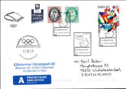Norway Cover Posted Olympiaparken I Lillehammer - Lillehammer 2000 (T20-39) - Norwegen