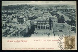 Saluto De Las Palmas Gran Canaria Plaza De St Ana Y Casa Ayuntamiento Alzola Martin 1905 Pionero - La Palma