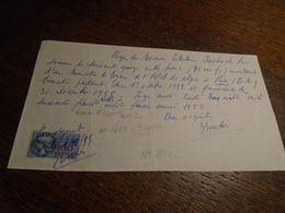 1955- Alpes De Ht PROVENCE ( RIEZ) + FACTURE + Timbre FISCAL N° 168 B = 3,00 Eur ++3 Photos - Fiscaux