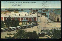 Las Palmas Gran Canaria Parque Y Muelle Sta Catalina Rodrigues Timbre Décollé Quitar Sello - La Palma