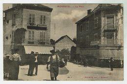 MORESTEL - La Place - Circulée 1906 - Bon état - Morestel