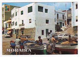 Espagne Alicante Moraira N°16 Quai Pêcheur Bateaux Voitures Renault 4L Camionnette R6 R16 Citroên Ami 6 Peugeot 204 - Alicante