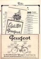 PEUGEOT  LOT Publicités Des Années 20  Cycles & Motocycles   ADS - Non Classés