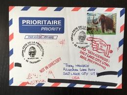 Tautavel Fête De La Préhistoire Crâne Homme Arago 21 Prehistoric Mammouth 2008 Retour à L'envoyeur - Commemorative Postmarks