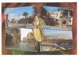 Italie Sicilia Saluti Da Gela En 4 Vues VOIR DOS - Gela